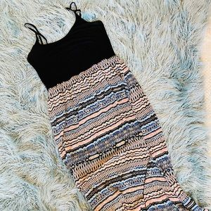 Forever 21 maxi dress with half slip